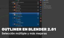 Mejoras en el Outliner para Blender 2.81