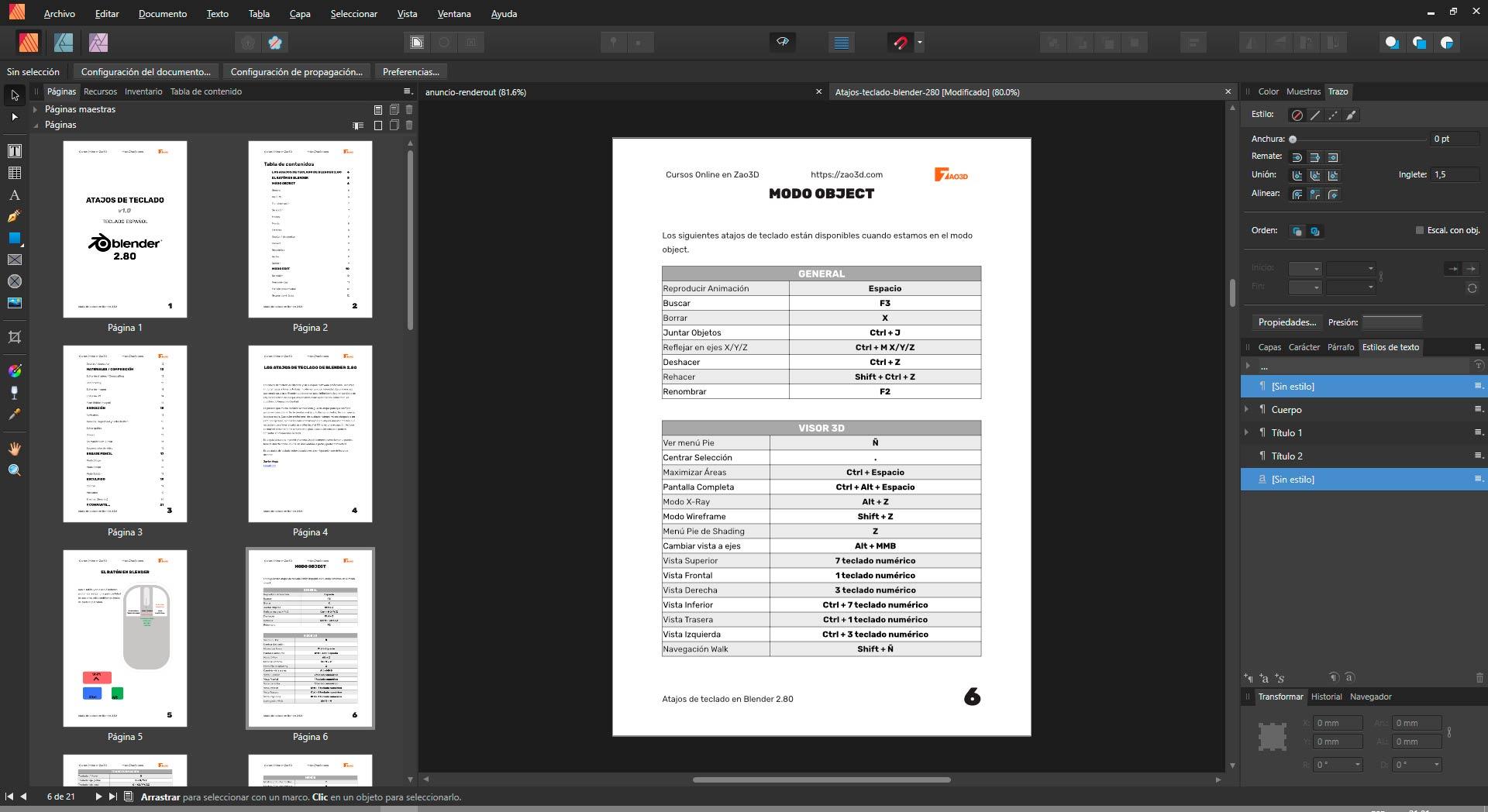 Creando documentación con Affinity Publisher