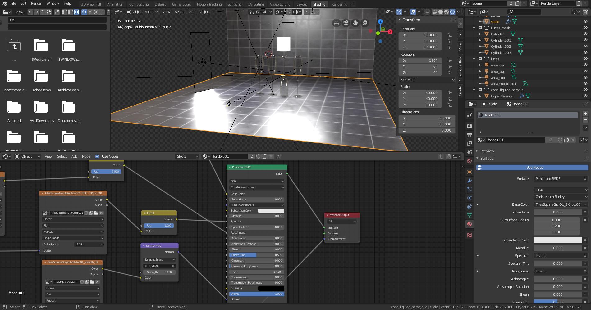 Nodo de material PBR para EEVEE en Blender 2.80