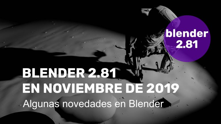 Blender 2.81 para noviembre de 2019