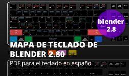 Mapa de teclado de Blender 2.80
