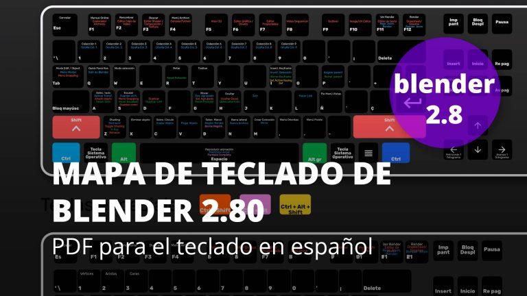 Mapa de teclado de Blender 2.80 para teclado en español