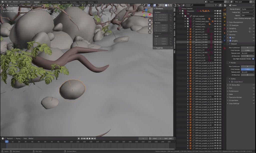 Scene Editing in Object Mode