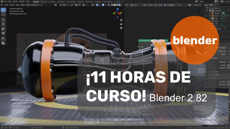 ¡11 horas de curso de Blender 2.80!