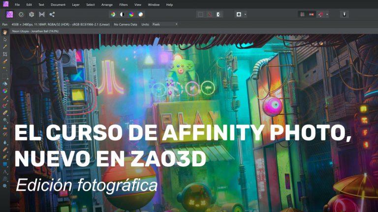 El curso de Affinity Photo, nuevo en Zao3D