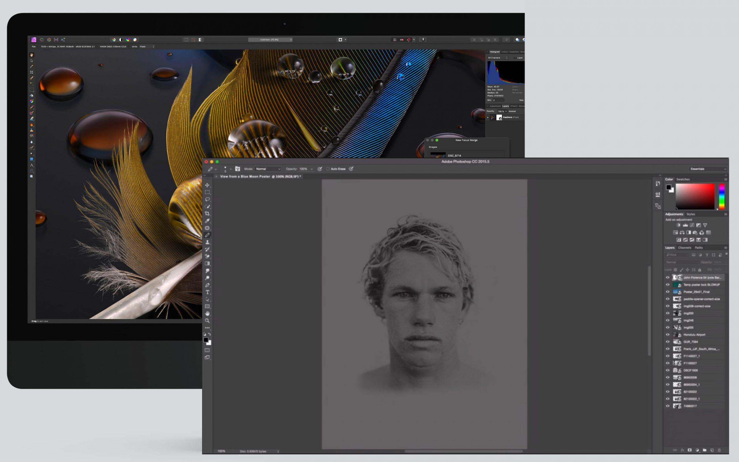 Diferencias entre Affinity Photo y Photoshop