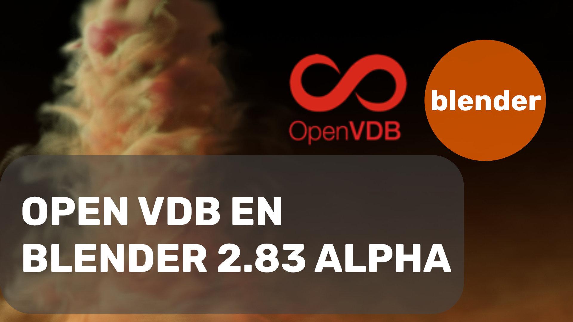 Open VDB en Blender 2.83 alpha