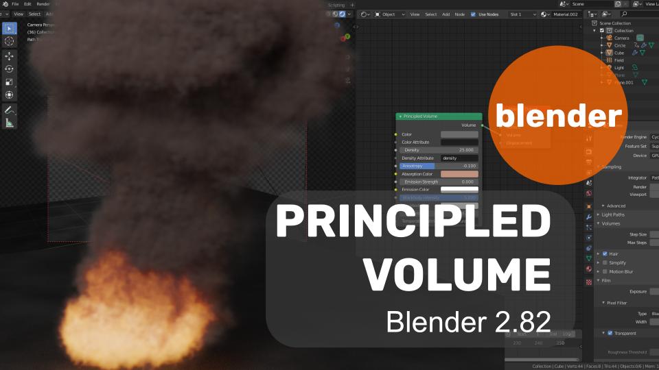 El Principled Volume en Blender