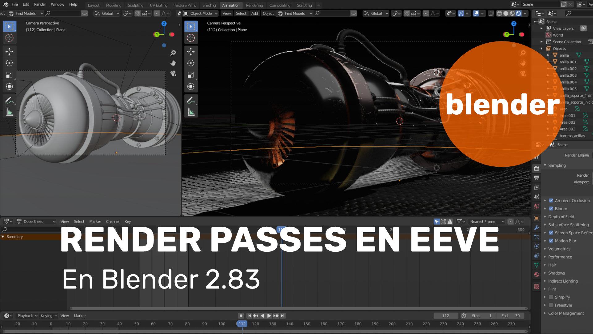 Render passes en EEVEE - Blender 2.83