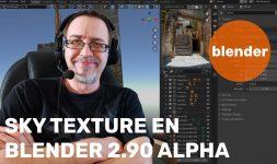 Nuevo Sky Texture en Blender 2.90