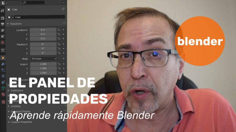 El panel de propiedades de Blender