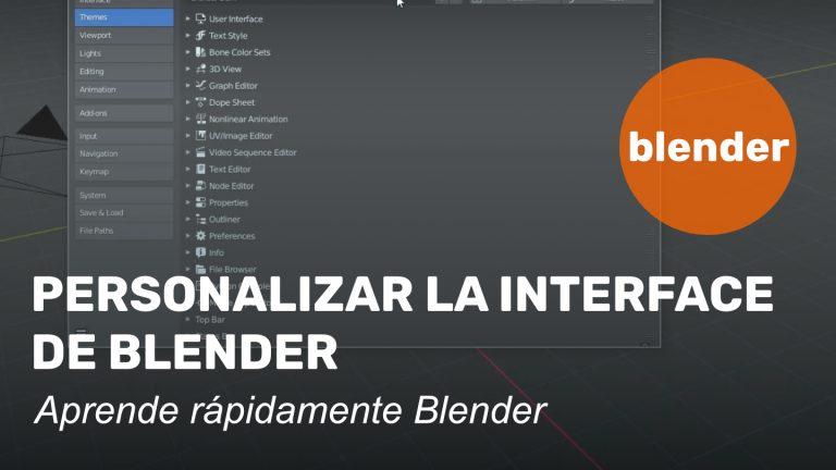 personalizar interface de blender