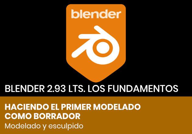 Bocetear el personaje para esculpir con Blender 2.93 LTS