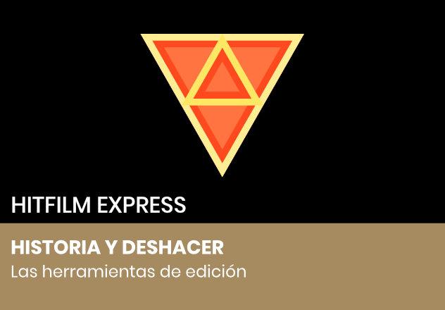 El panel historia y deshacer en HitFilm Express